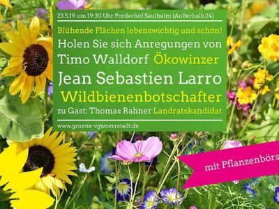 Einladung: Blühende Flächen sind lebenswichtig und schön! Mit Pflanzentauschbörse!