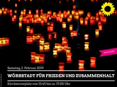 Wörrstadt für Frieden und Zusammenhalt am kommenden Samstag 15:45- 17:00 vor den Kirchen!